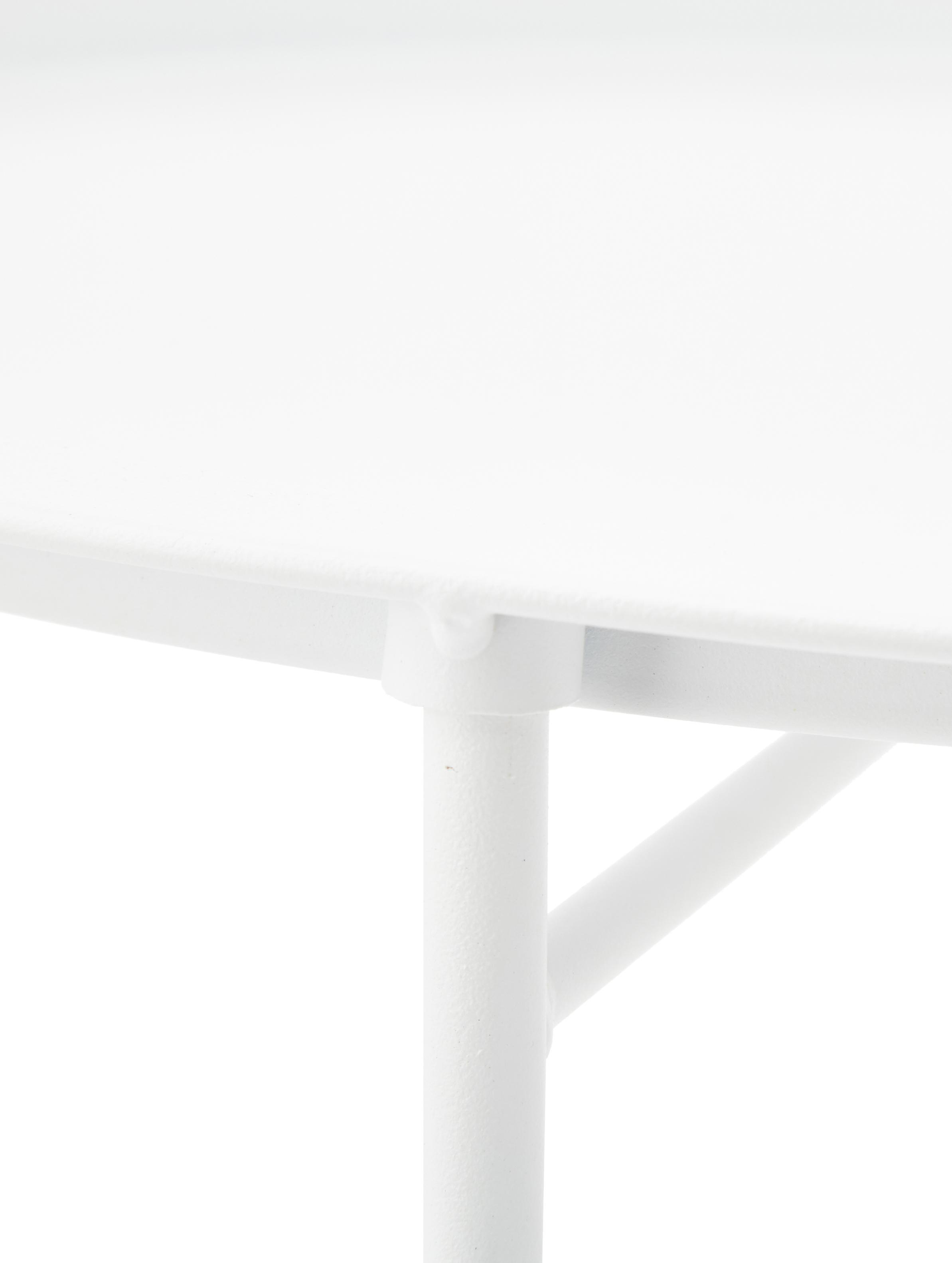 Stolik-taca Sangro, Stal lakierowana, Biały, Ø 46 x W 52 cm