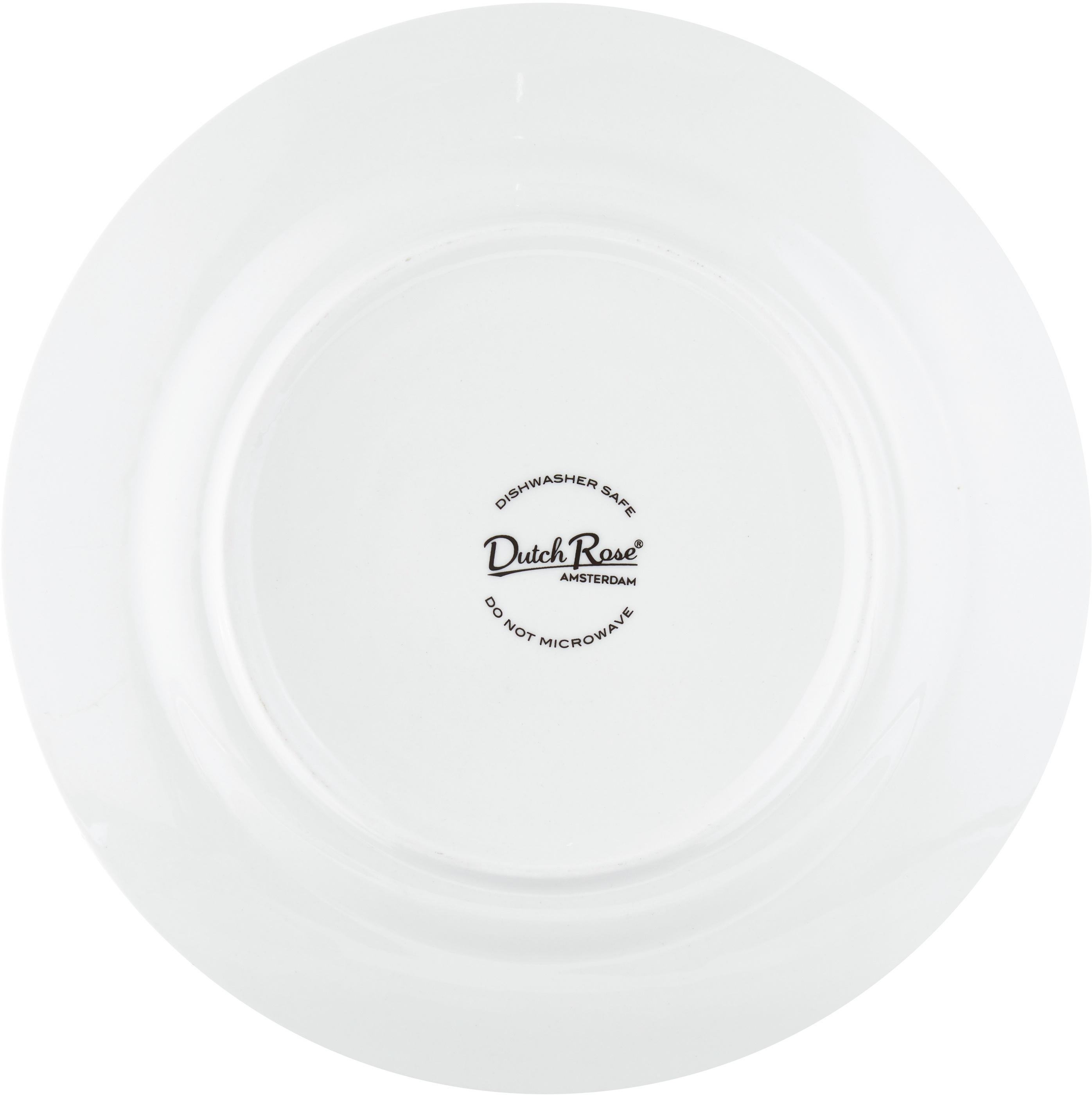 Assiette à dessert Pluto Loft, 4pièces, Noir, blanc, couleur dorée