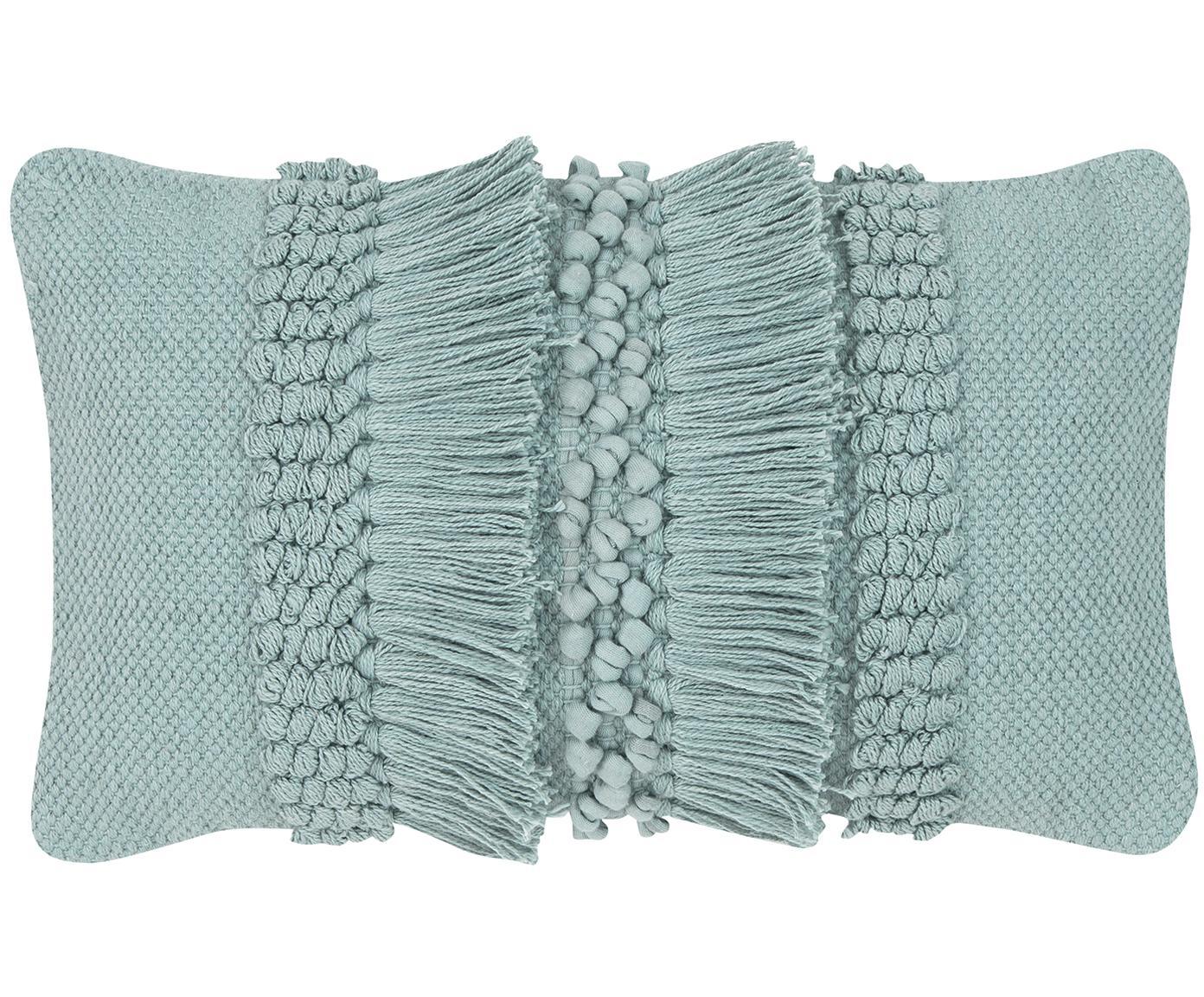 Federa arredo Monika, 100% cotone, Verde salvia, Larg. 30 x Lung. 50 cm