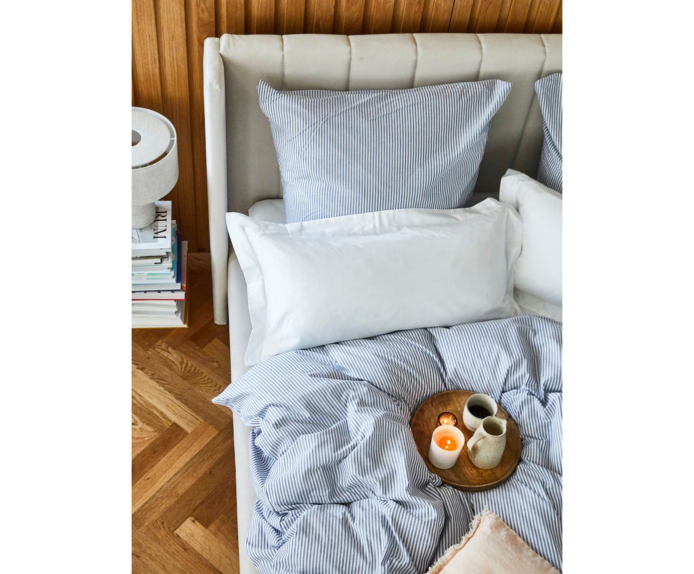 Poszewka na poduszkę z satyny bawełnianej Premium, 2 szt., Biały, S 40 x D 80 cm