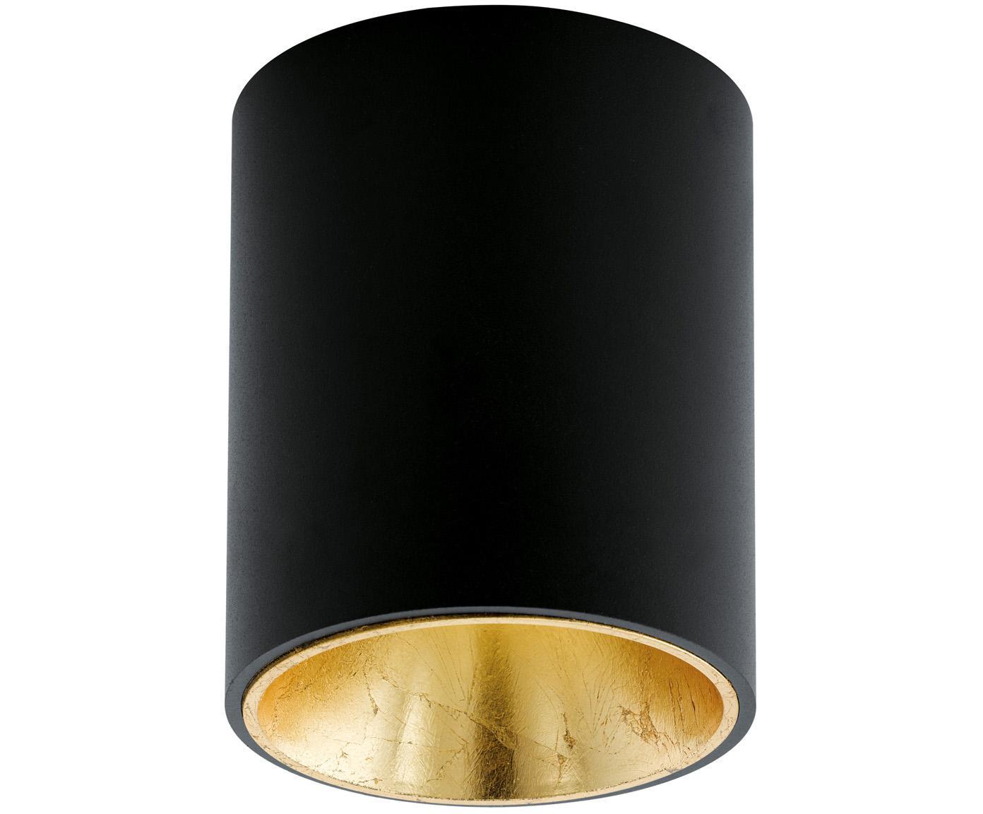 Lampa spot LED Marty, Czarny, odcienie złotego, ∅ 10 x W 12 cm