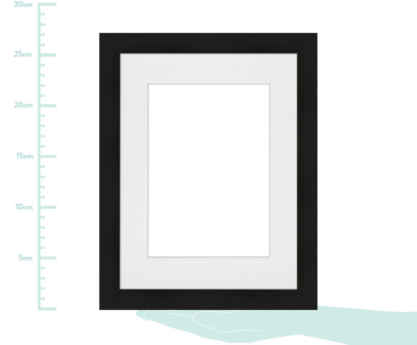 Bilderrahmen Apollon, Rahmen: Monterey-Kiefernholz, lac, Front: Glas, Rückseite: Mitteldichte Holzfaserpla, Schwarz, 18 x 24 cm
