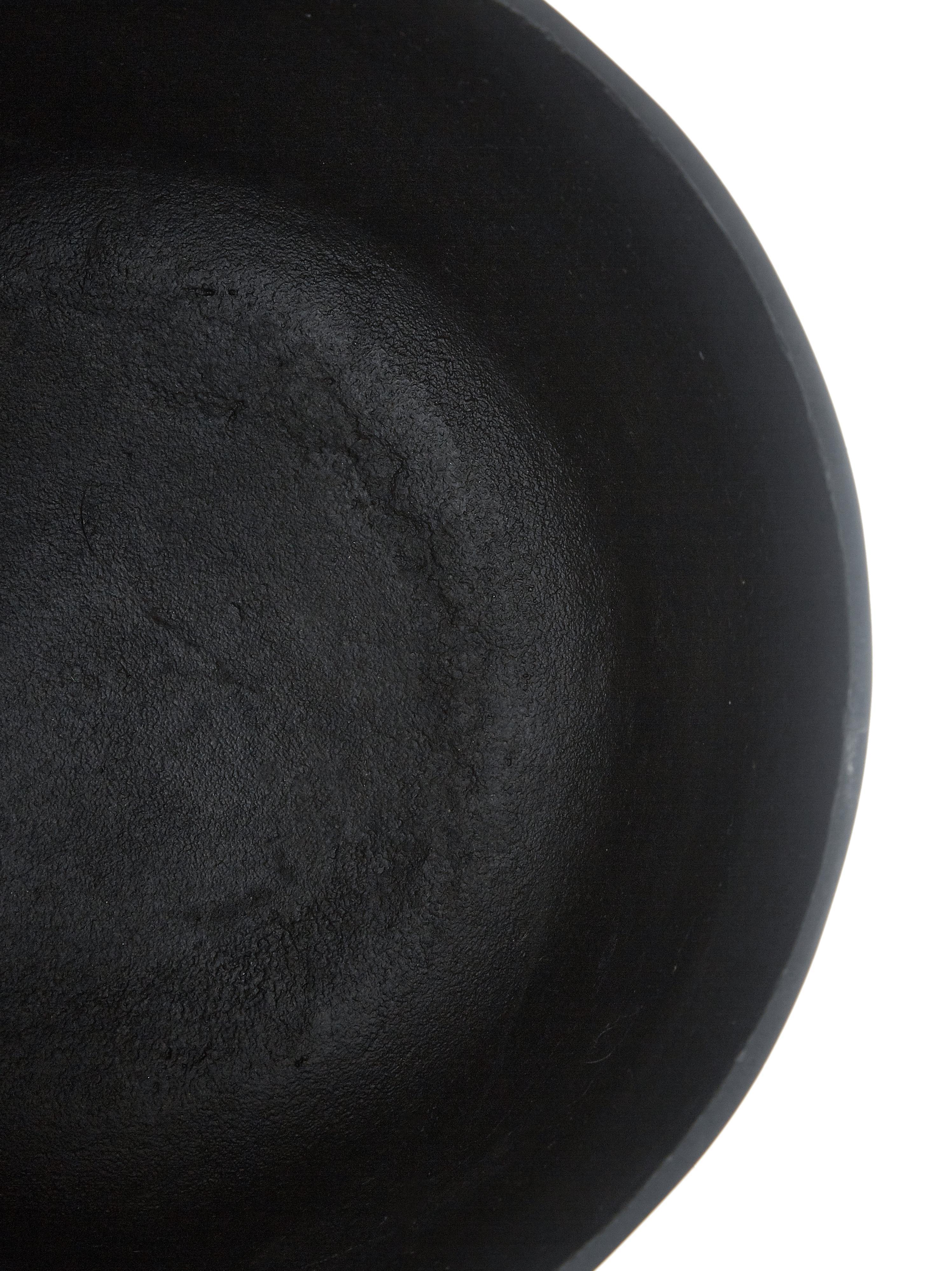 Großer Übertopf Minell aus Metall, Übertopf: Aluminium, oxidiert, besc, Gestell: Metall, beschichtet, Schwarz, Ø 28 x H 50 cm