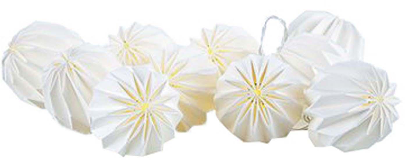 Guirnalda de luces LED Runda, Plástico, Blanco, transparente, L 185 x Al 7 cm