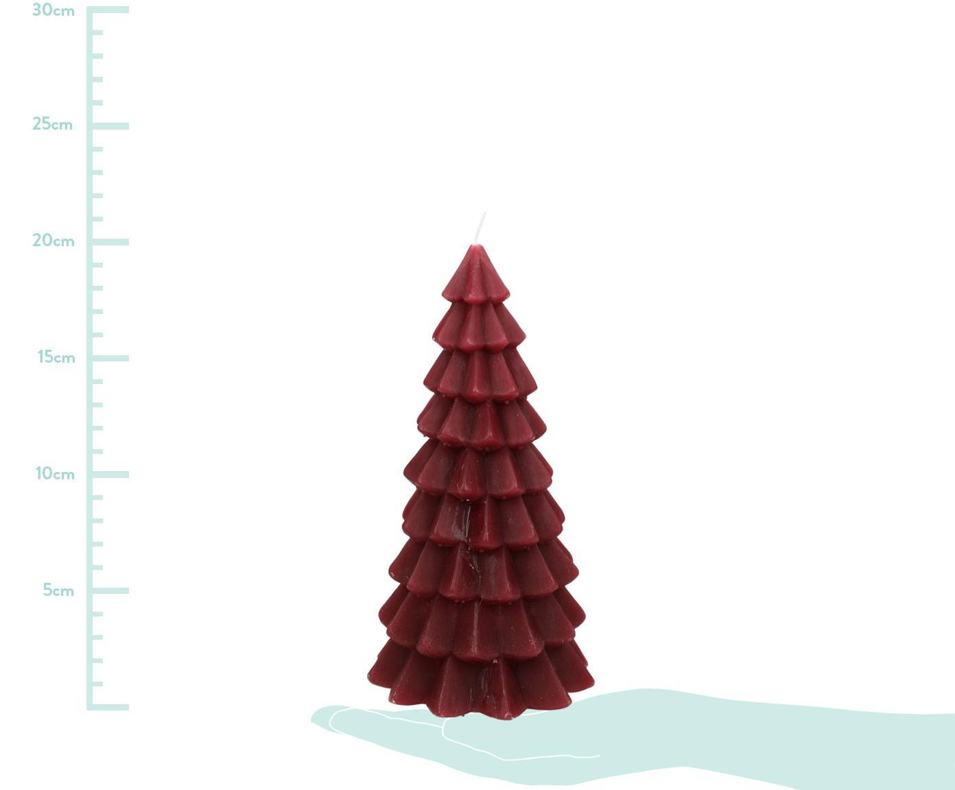 Kerze Christmas Tree, Paraffinwachs, Rot, Ø 10 x H 20 cm