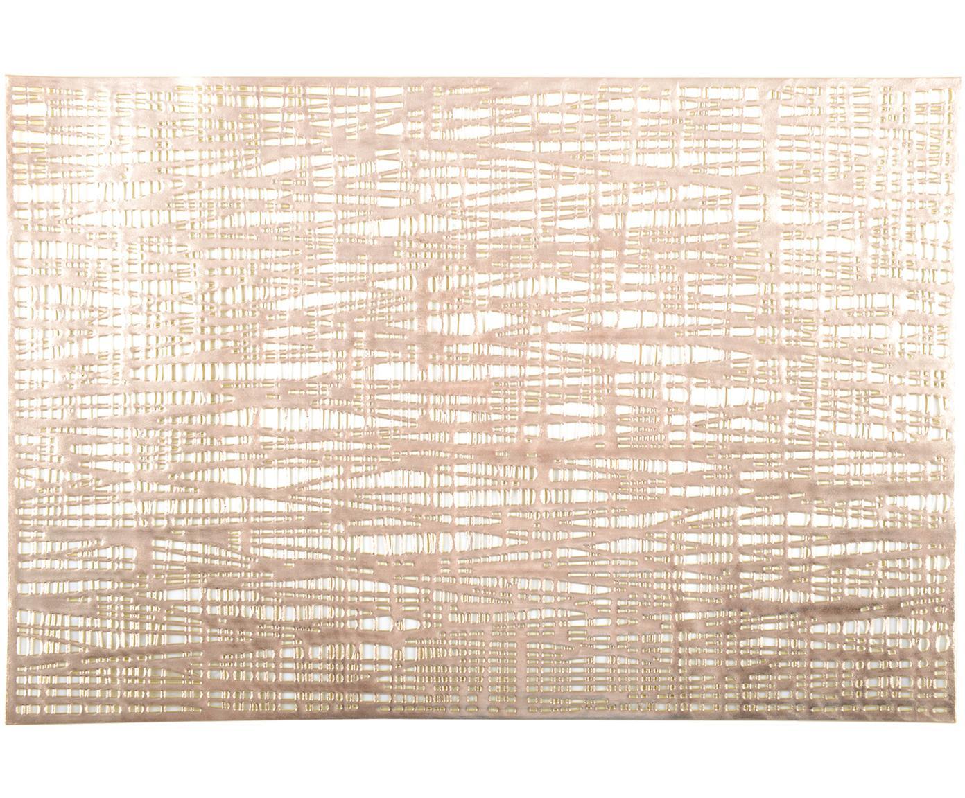 Tischsets Mazle, 2 Stück, Kunststoff, Goldfarben, 30 x 45 cm