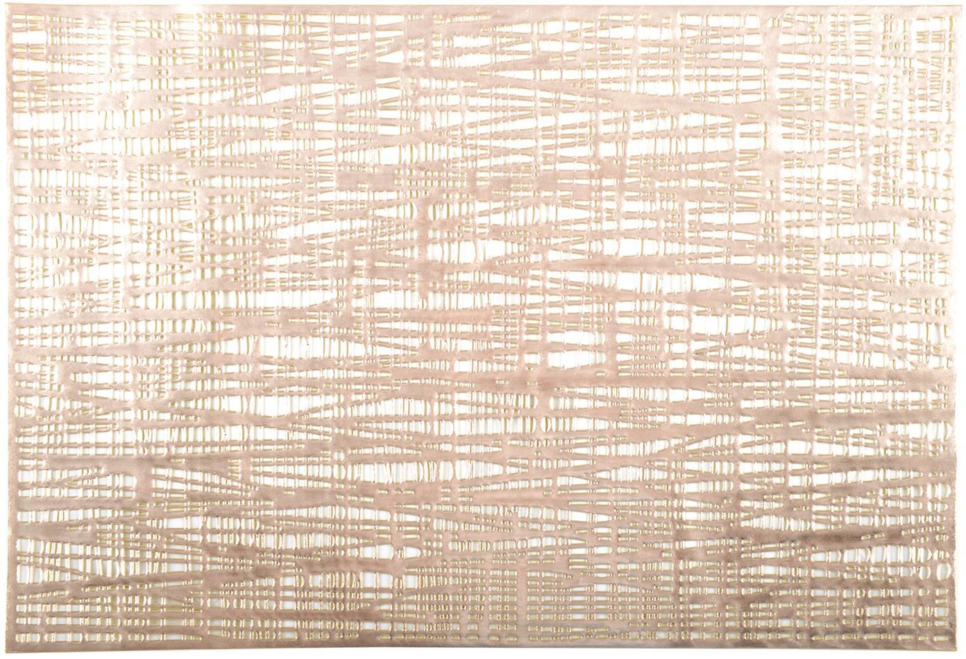 Manteles individuales Mazle, 2uds., Plástico, Dorado, An 30 x L 45 cm