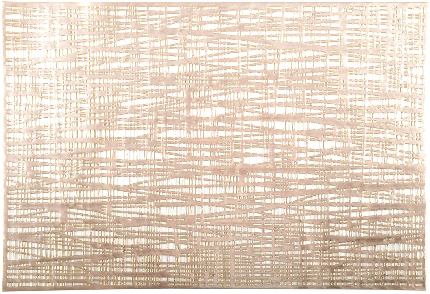 Placemats Mazle, 2 stuks, Kunststof, Goudkleurig, 30 x 45 cm