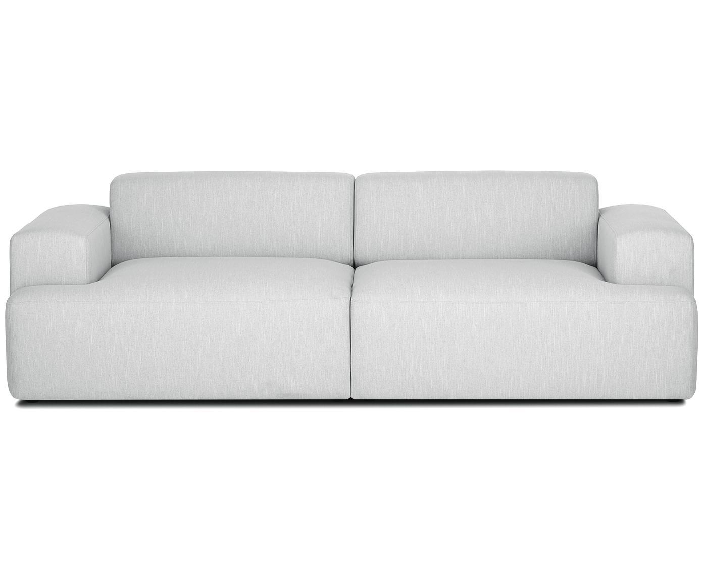 Sofa Melva (3-Sitzer), Bezug: Polyester 35.000 Scheuert, Gestell: Massives Kiefernholz, Spa, Webstoff Hellgrau, B 240 x T 101 cm