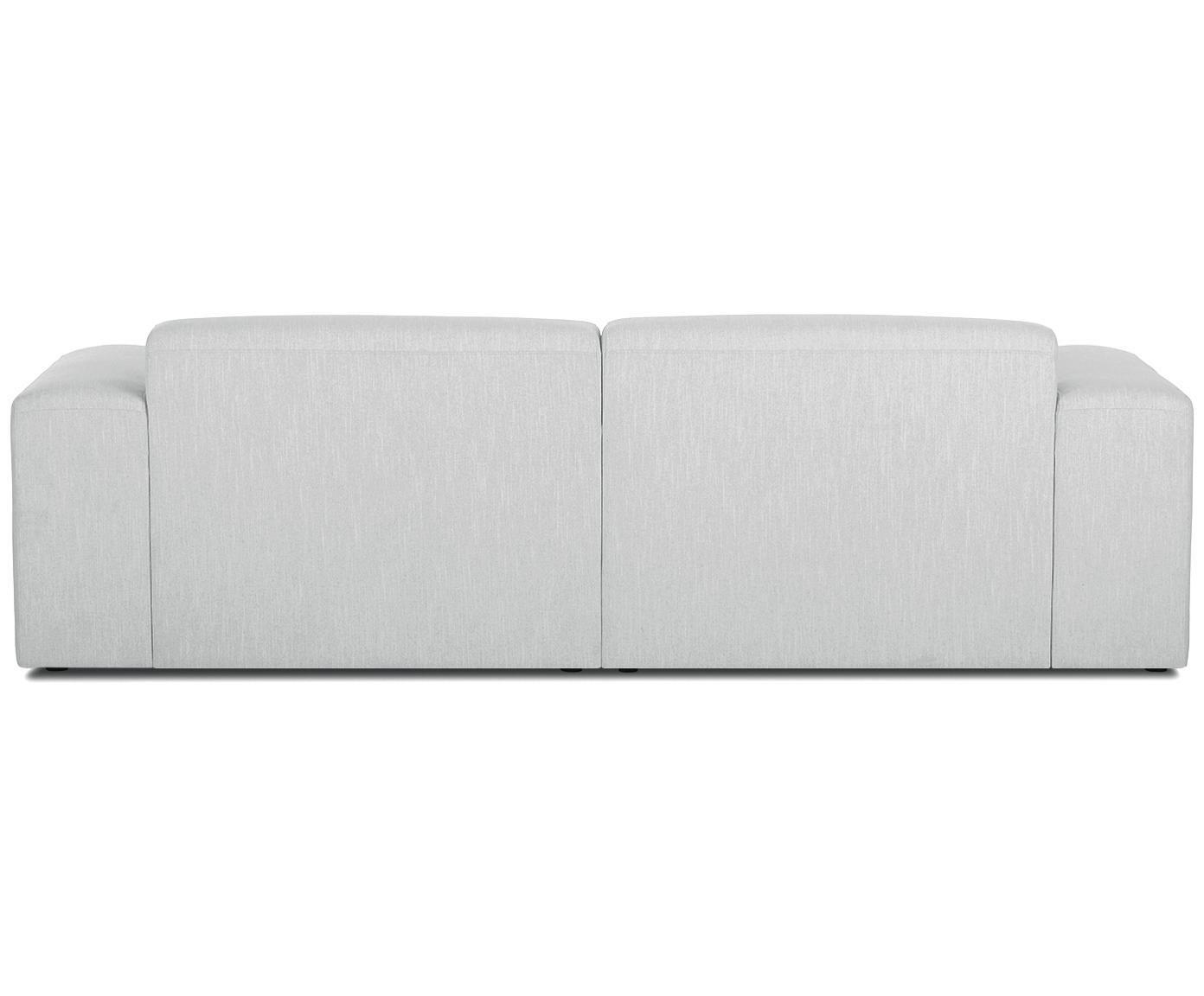 Sofa Melva (3-Sitzer), Bezug: Polyester 35.000 Scheuert, Gestell: Massives Kiefernholz, Spa, Füße: Kiefernholz, Webstoff Hellgrau, B 240 x T 101 cm