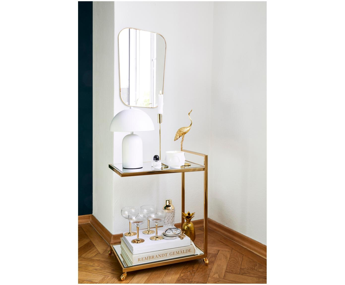 Kerzenhalter Goldie, Metall, lackiert, Goldfarben, Ø 10 x H 29 cm