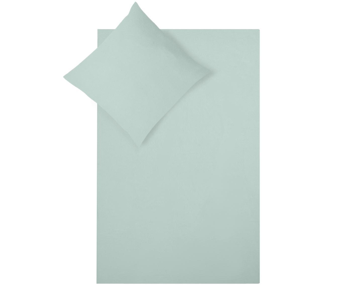 Pościel z flaneli Biba, Zielony miętowy, 135 x 200 cm