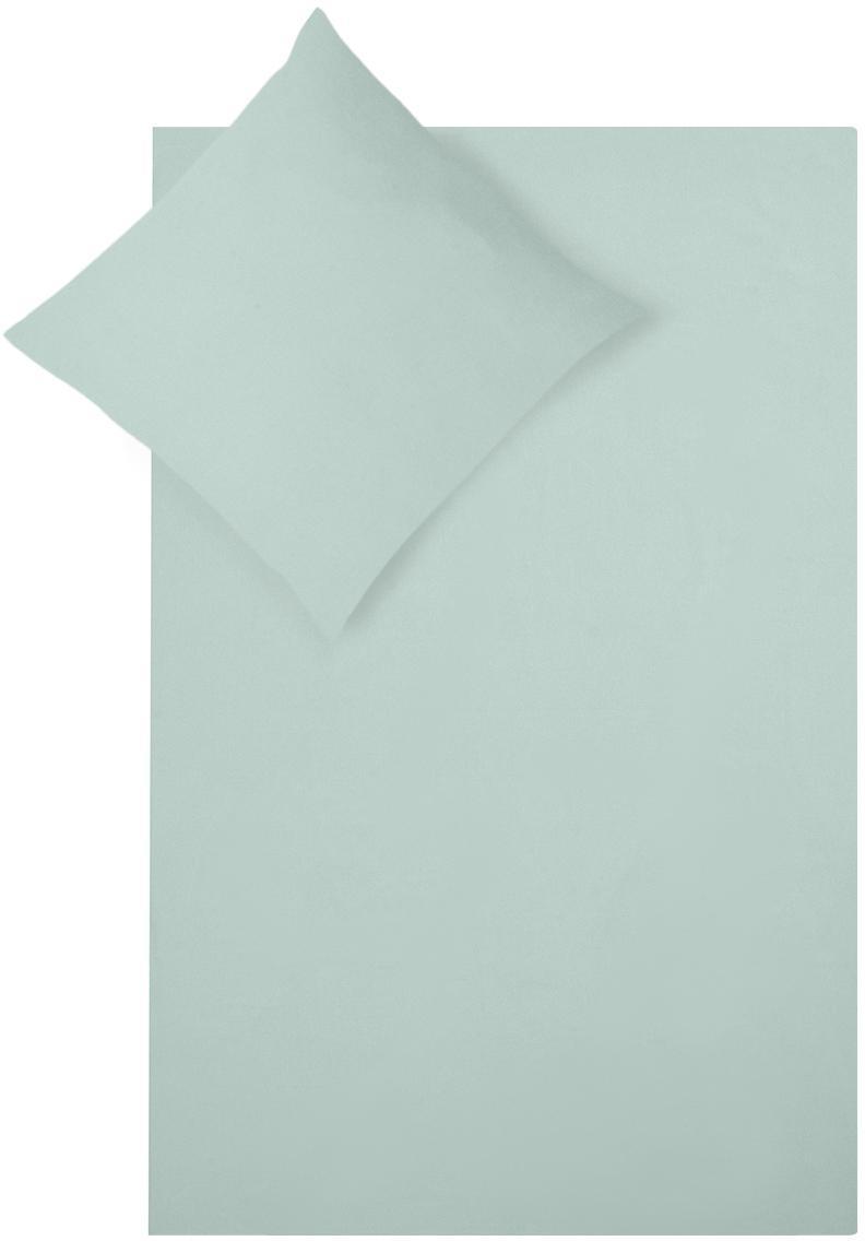 Flanell-Bettwäsche Biba in Salbeigrün, Webart: Flanell Flanell ist ein s, Salbeigrün, 135 x 200 cm + 1 Kissen 80 x 80 cm