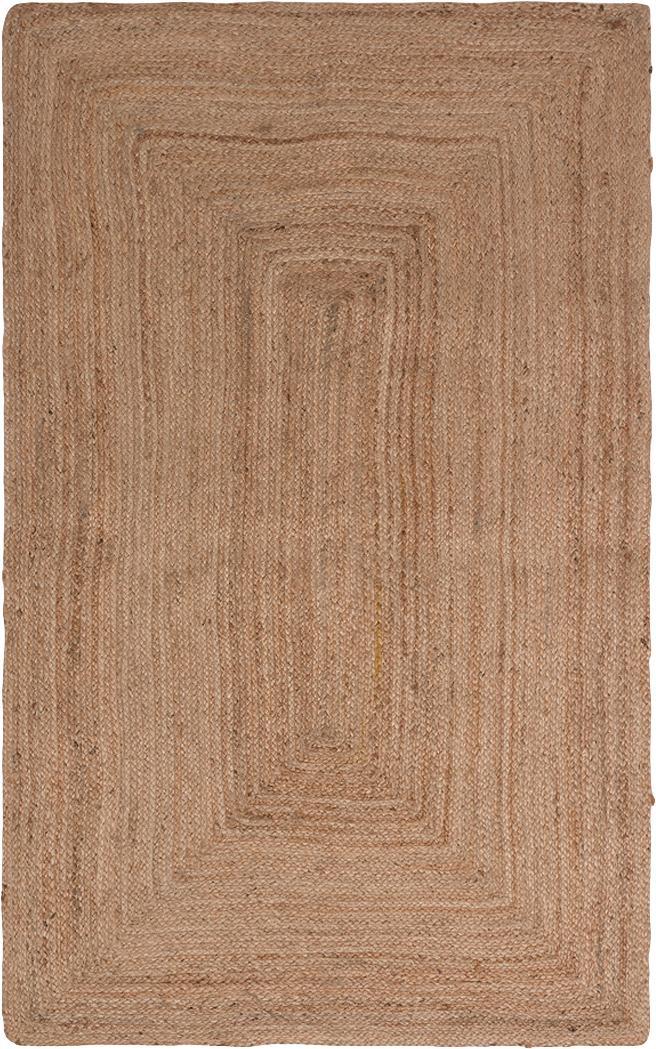 Juteteppich Ural, 100% Jute, Beige, B 90 x L 150 cm (Größe XS)
