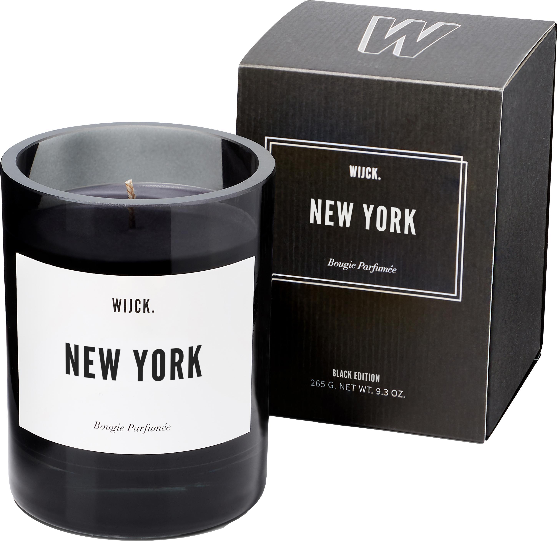 Świeca zapachowa New York (zielona cytryna, róża i drewno), Czarny, Ø 8 x W 11 cm