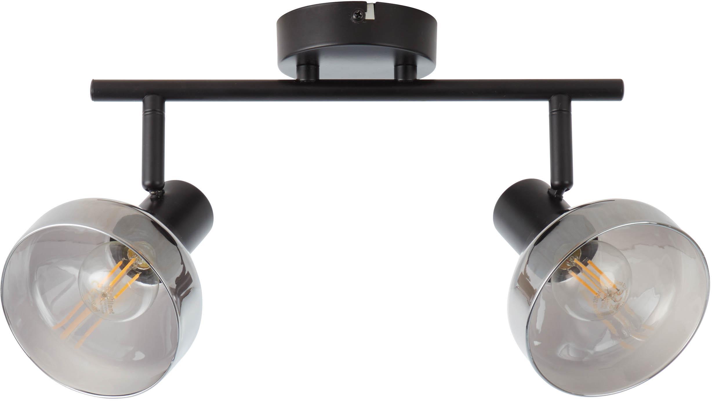 Riel Reflekt, Pantalla: vidrio, Estructura: metal, Negro, gris, transparente, An 43 x Al 20 cm
