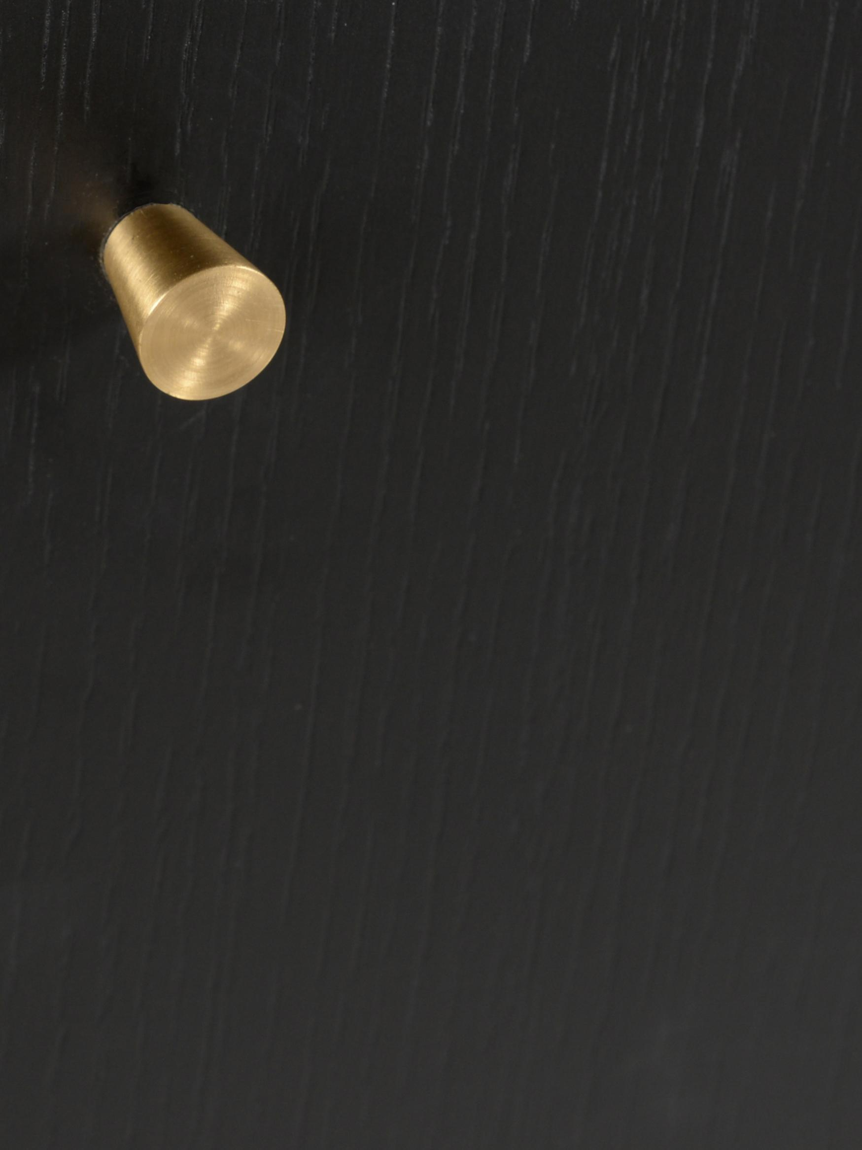 Komoda Verona, Korpus: płyta pilśniowa średniej , Nogi: metal malowany proszkowo, Czarny, mosiądz, S 160 x W 45 cm