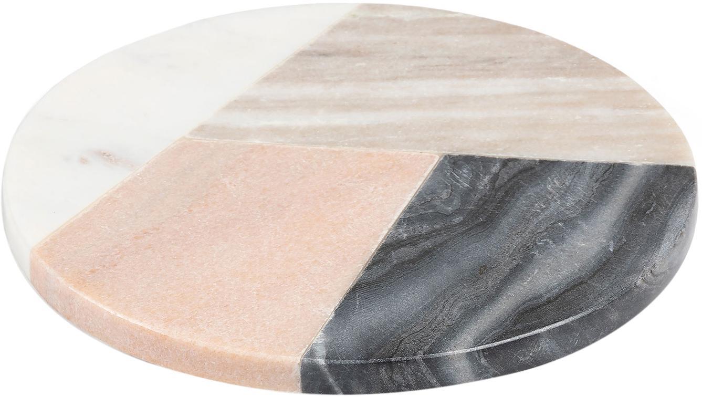 Deska do serwowania z marmuru Bradney, Ceramika, marmur, Wielobarwny, Ø 20 cm