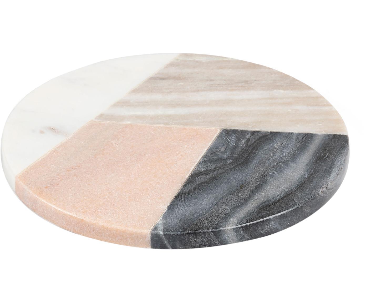 Marmor-Servierbrett Bradney, Keramik, Marmor, Mehrfarbig, Ø 20 cm
