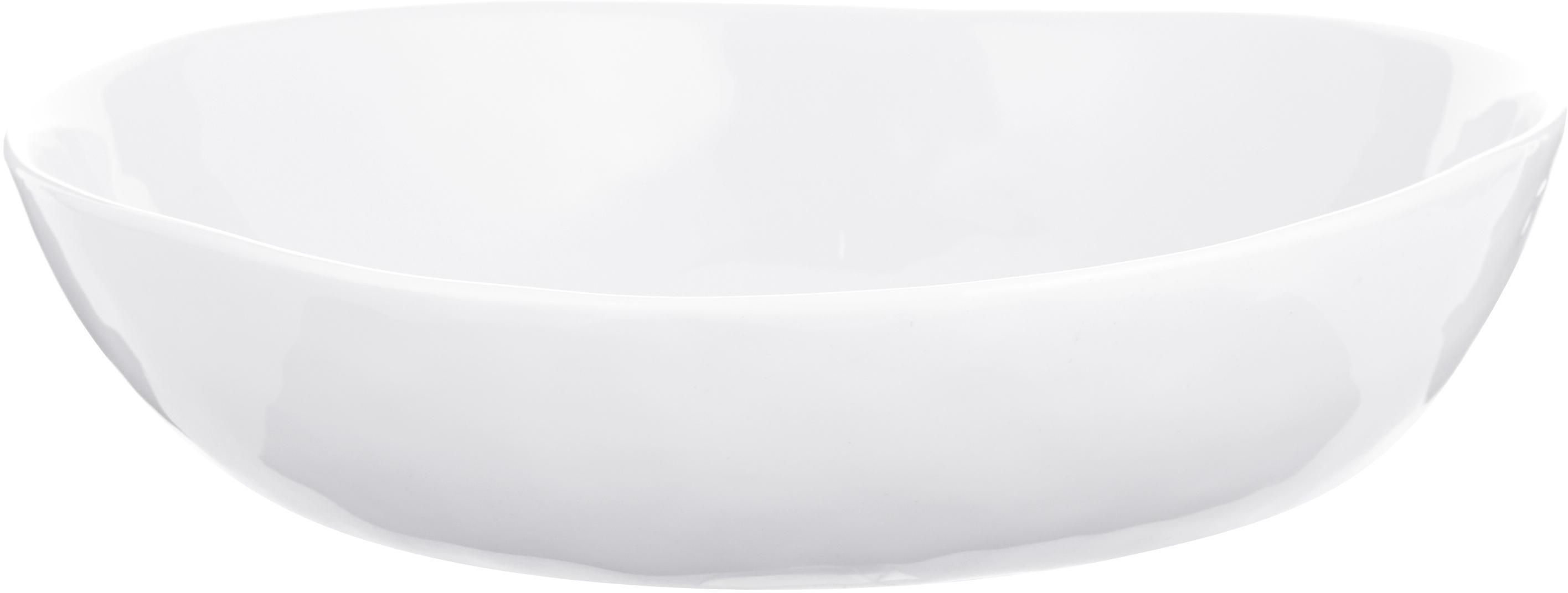 Ciotola Porcelino con superficie irregolare 4 pz, Porcellana, volutamente irregolare, Bianco, Lung. 17 x Larg. 16 cm
