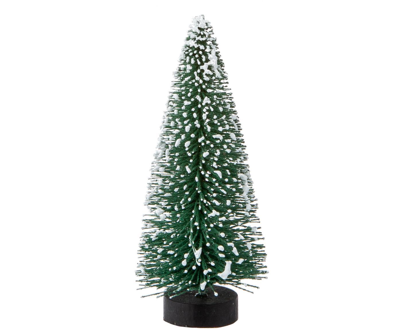 Adornos navideños Winter Forest, 3 uds., Plástico, alambre de metal, Verde, Ø 4 x Al 10 cm