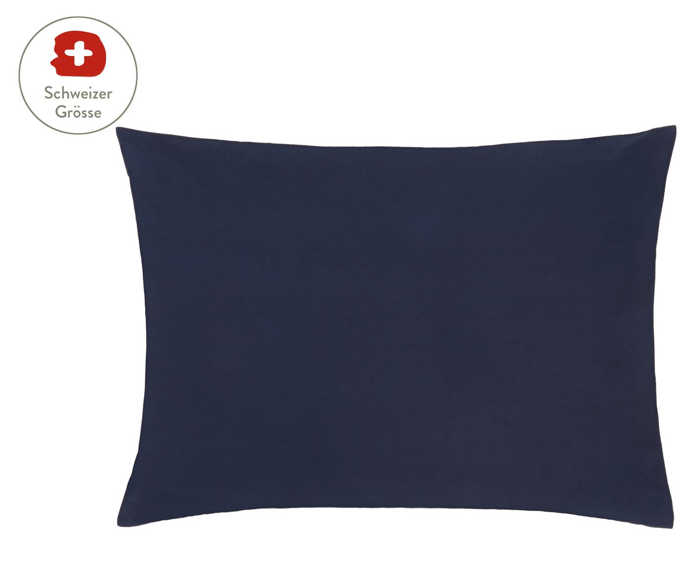 Baumwollperkal-Kissenbezug Elsie in Dunkelblau, Webart: Perkal Fadendichte 200 TC, Dunkelblau, 50 x 70 cm