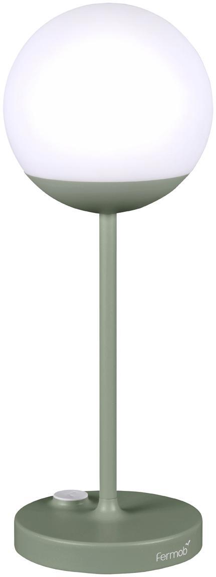Mobile LED Aussenleuchte Mooon, Lampenschirm: Kunststoff, Grün, Ø 15 x H 41 cm