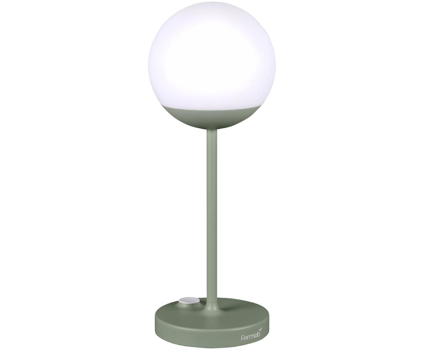 Lampada portatile da esterno a LED Mooon, Paralume: materiale sintetico, Verde, Ø 15 x Alt. 41 cm
