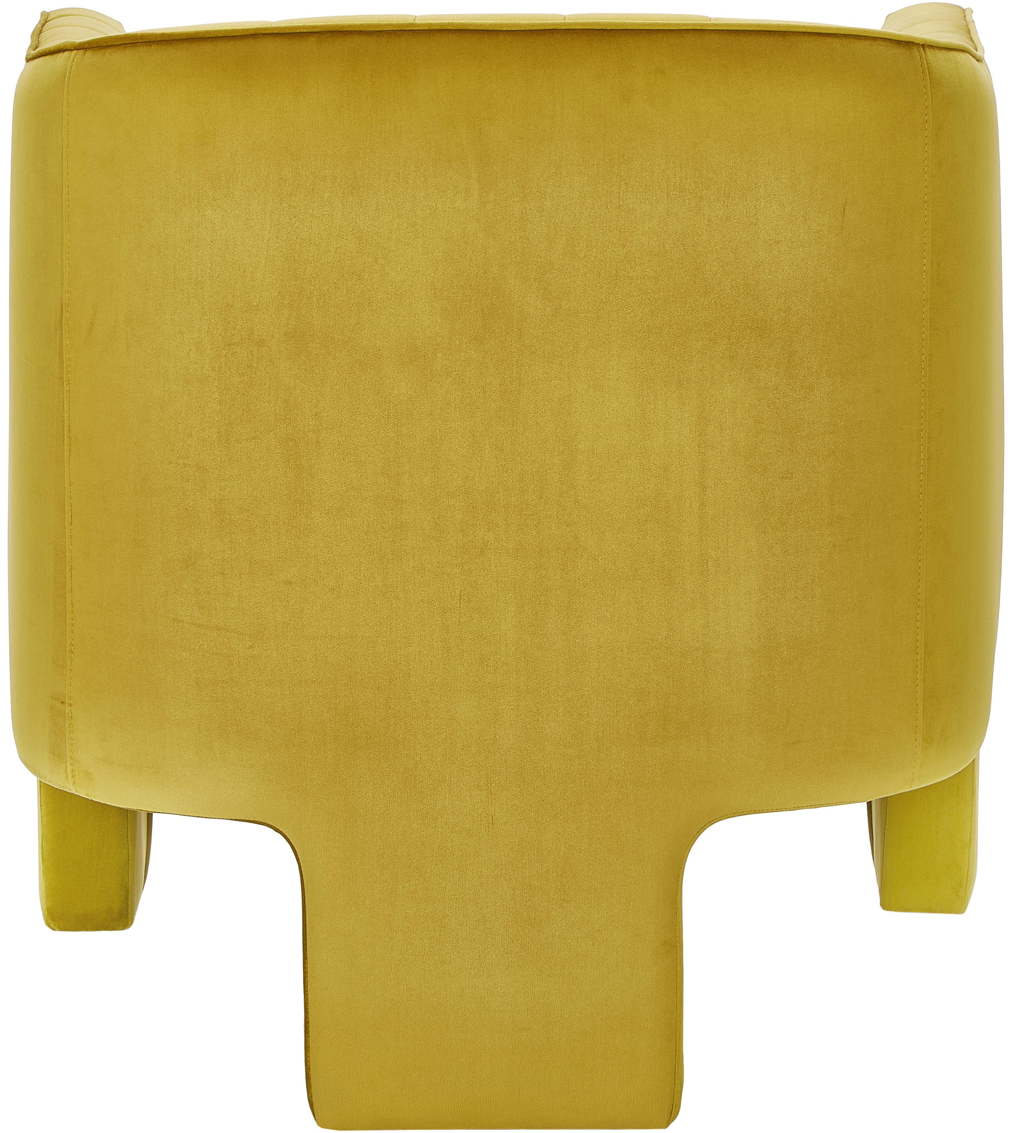 Samt-Cocktailsessel Emilie, Bezug: Samt (Polyester) 50.000 S, Samt Ocker, B 75 x T 76 cm