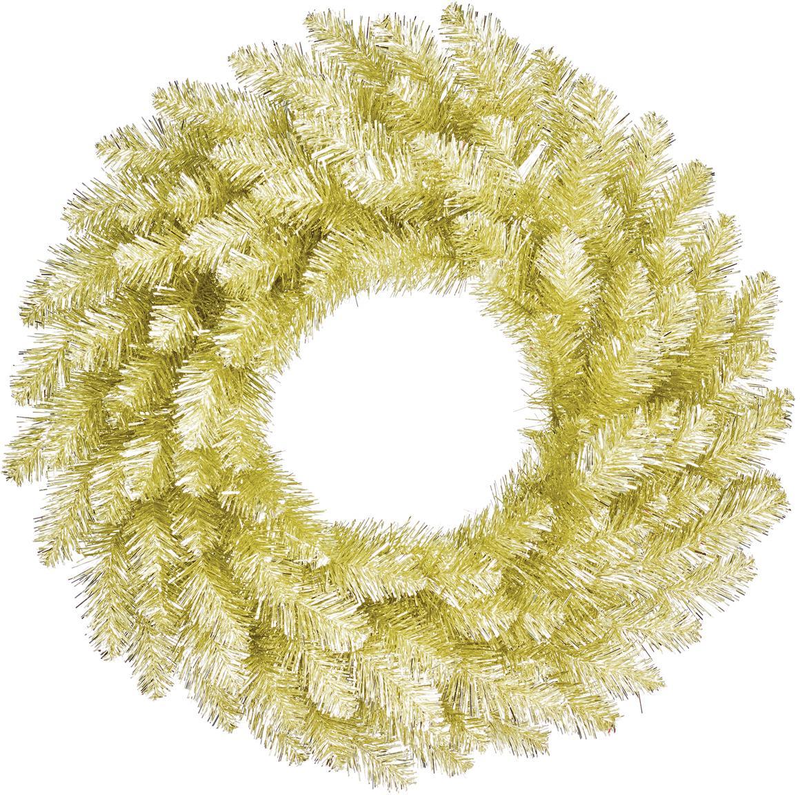 Künstlicher Weihnachtskranz Colchester, Kunststoff (PVC), Champagnerfarben, Ø 60 cm