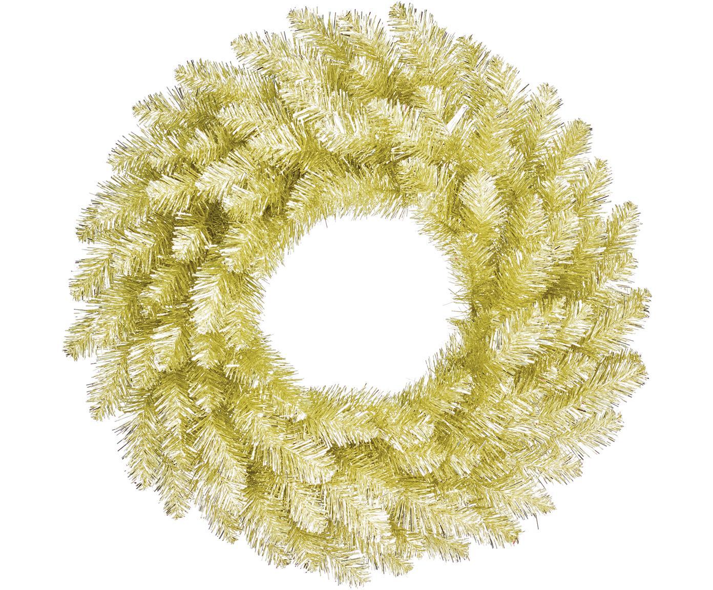 Corona navideña Colchester, Plástico (PVC), Champán, Ø 60 cm