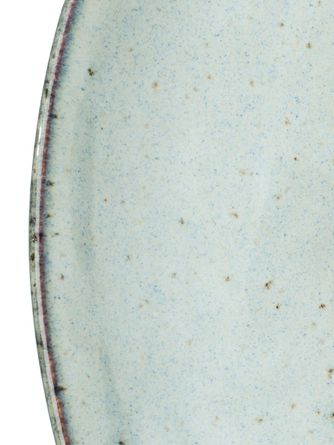 Piattino da dessert Rustic 4 pz, Porcellana, Grigio chiaro, verde, Ø 20 cm