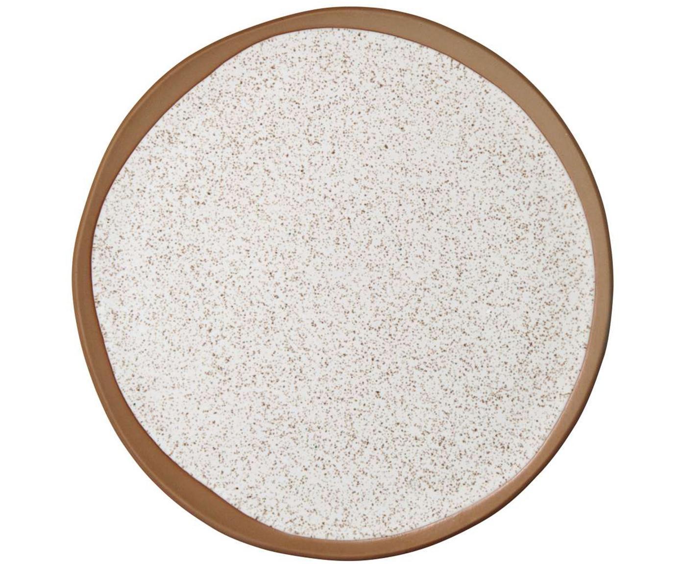 Frühstückteller Caja matt in Braun- und Beigetönen, 2 Stück, Terrakotta, Braun- und Beigetöne, Ø 21 cm