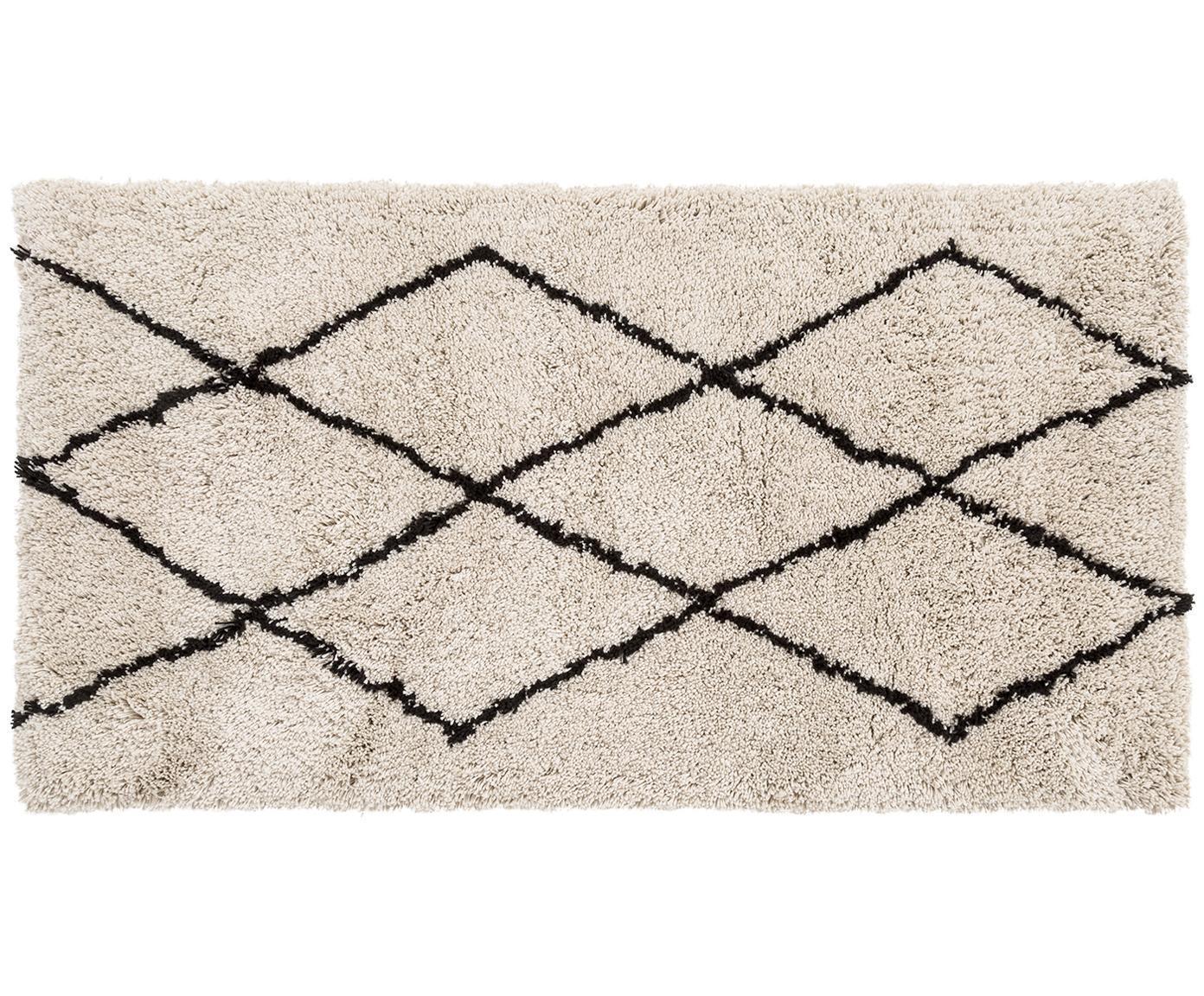 Ręcznie tuftowany dywan Nouria, Beżowy, czarny, S 80 x D 150 cm