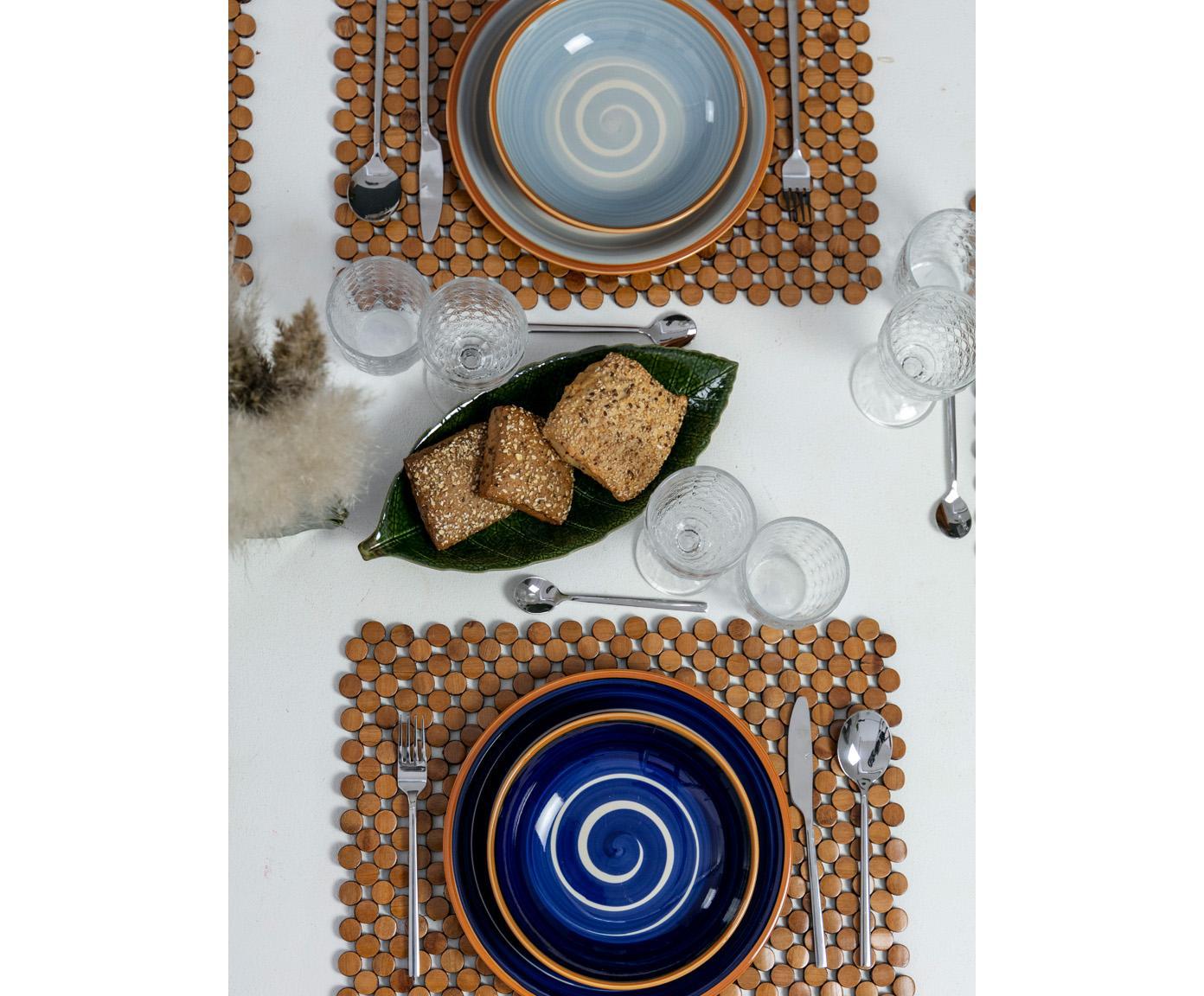 Komplet naczyń Formentera, 18 elem., Kamionka, Wielobarwny, Różne rozmiary