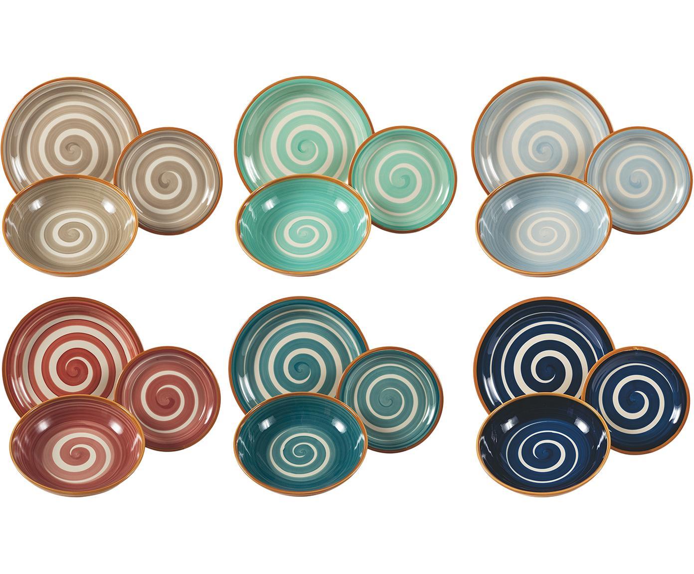 Set 18 piatti Formentera, 6 persone, Terracotta, Multicolore, Diverse dimensioni