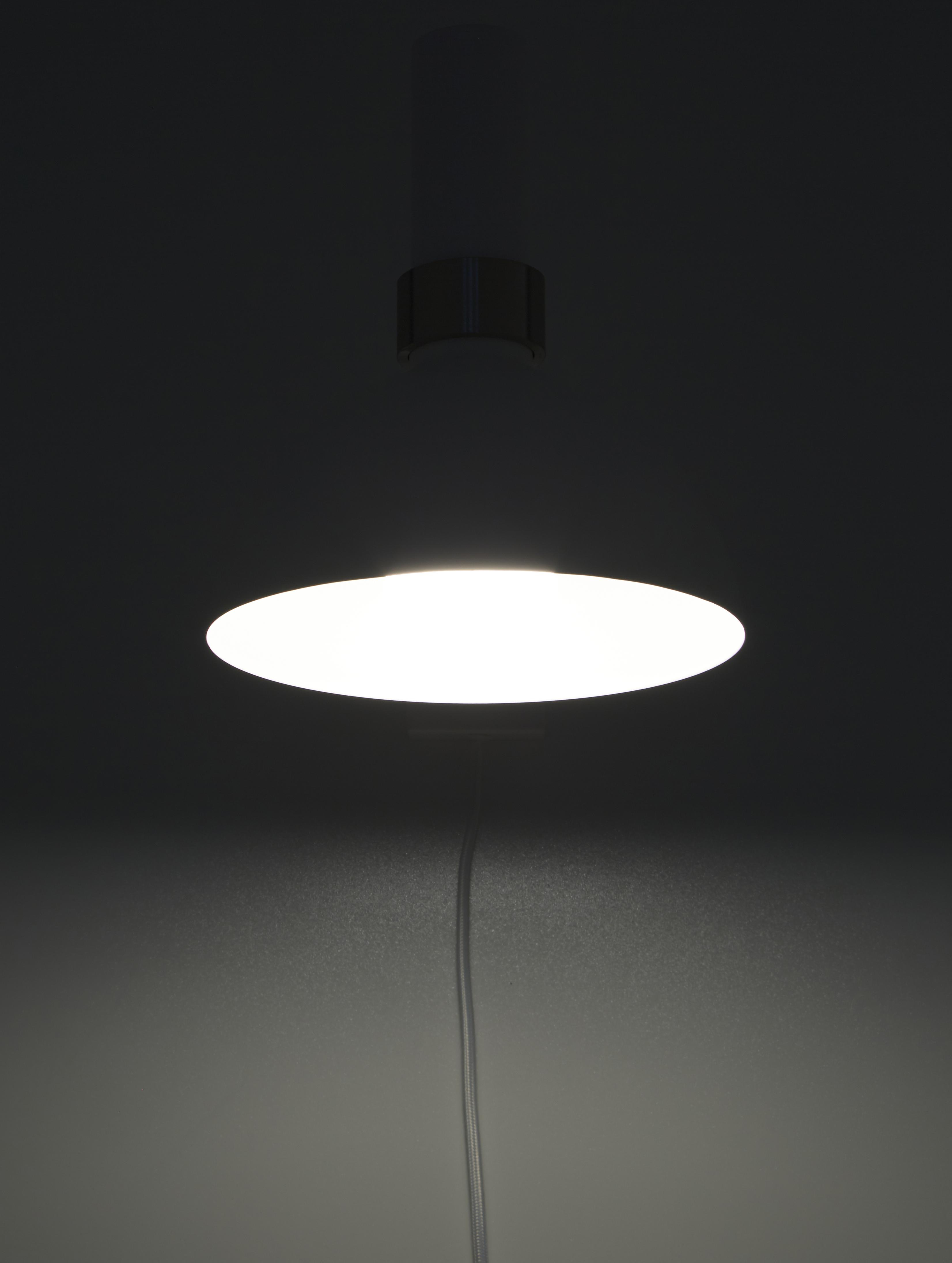 Applique dimmerabile Larry, Bianco, cromo, Larg. 19 x Alt. 24 cm