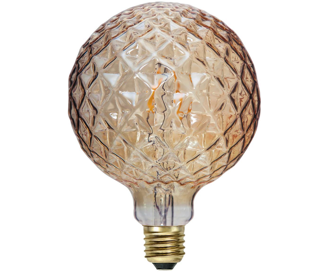 XL LED Leuchtmittel Soft Glow (E27/ 2.2W), Leuchtmittelschirm: Glas, Leuchtmittelfassung: Messing, Bernsteinfarben, Ø 13 x H 17 cm