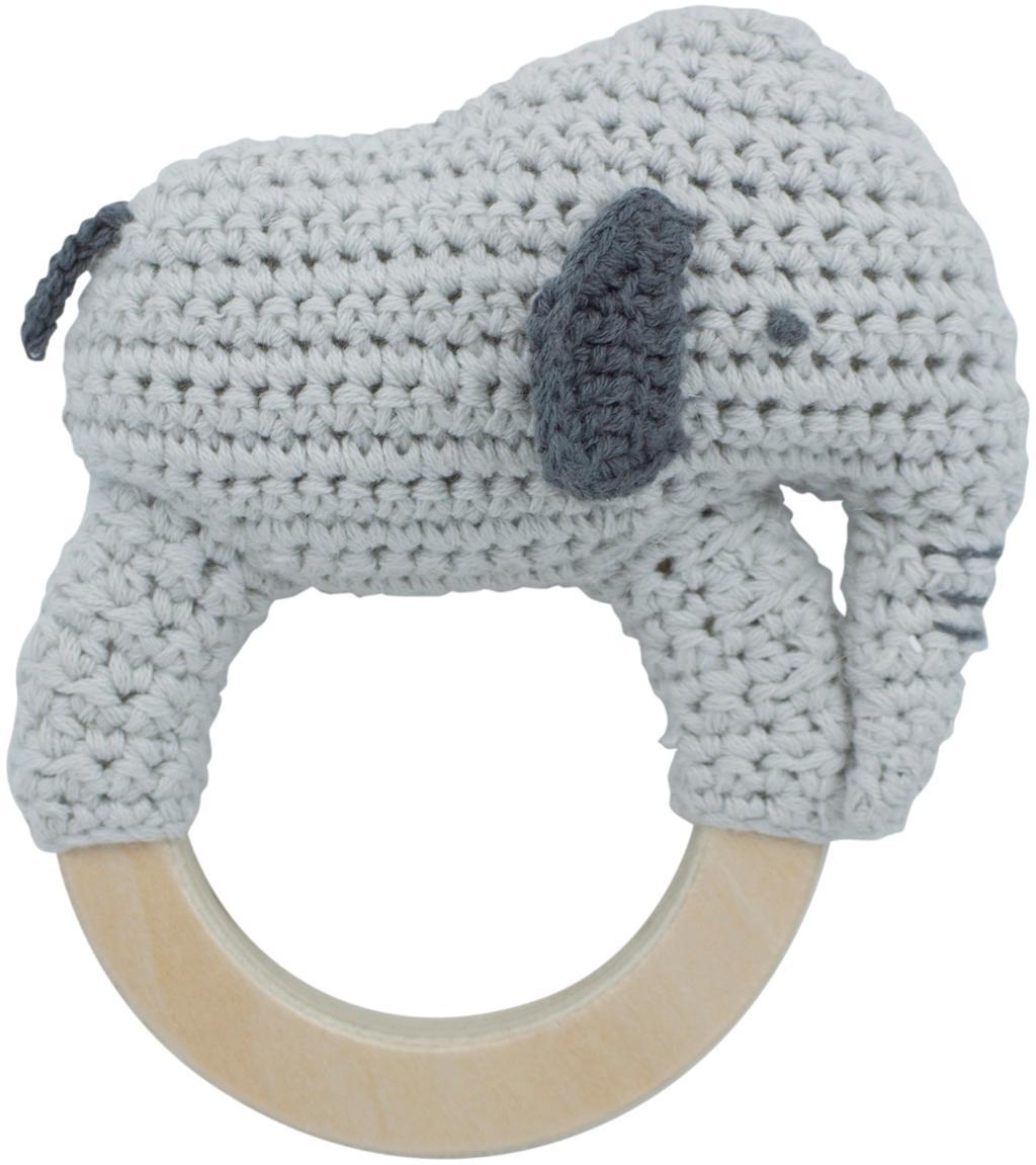 Juguete agarrador Finley, Exterior: algodón, Gris, An 12 x Al 12 cm
