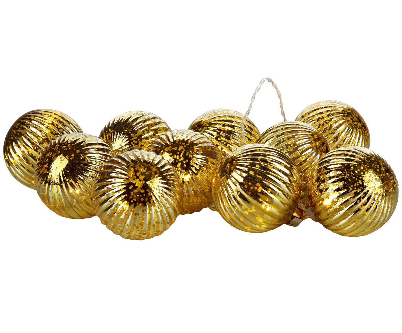 Ghirlanda a LED Bigsolo, Paralume: vetro, Dorato, L 210 cm