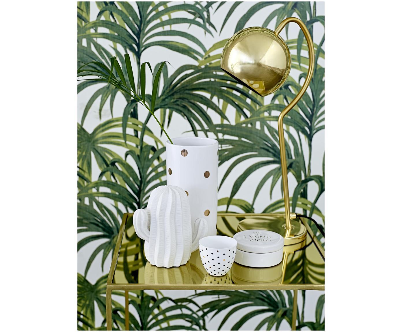 Komplet kaktusów dekoracyjnych Dina, 3 elem., Porcelana surowa, matowa, Biały, Różne rozmiary