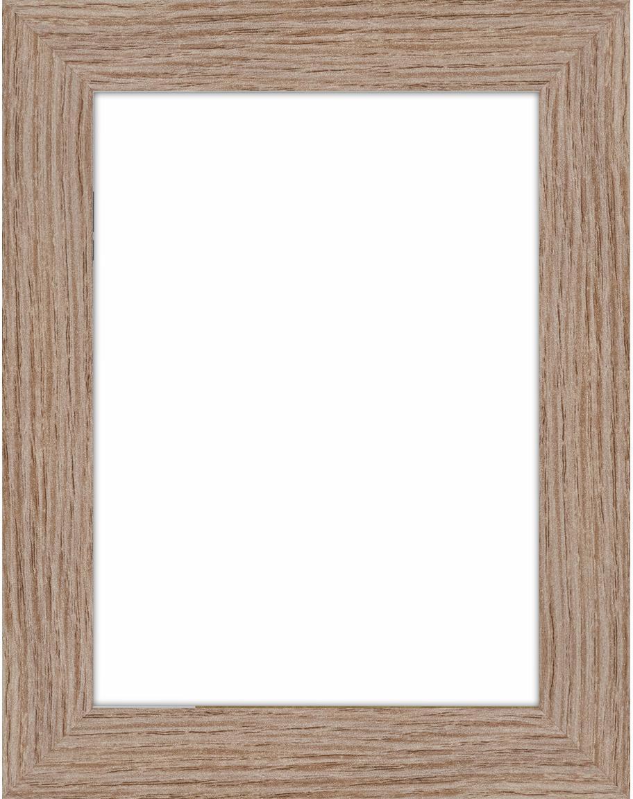 Cornice in legno Oslo, Cornice: Pannelli di fibra a media, Retro: Pannelli di fibra a media, Marrone chiaro, 13 x 18 cm