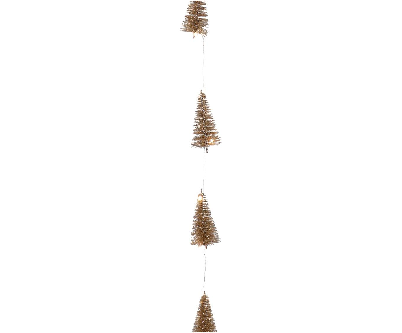 LED Girlande Illumination, Metalldraht, Kunststoff, Glitzer, Goldfarben, L 253 cm