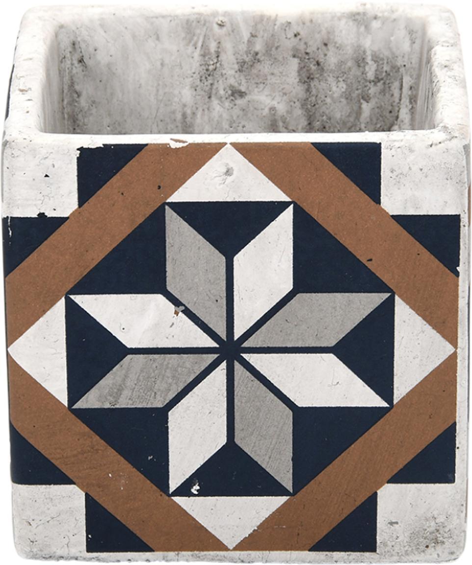 Kleine plantenpot Portugal van beton, Beton, Multicolour, 11 x 11 cm