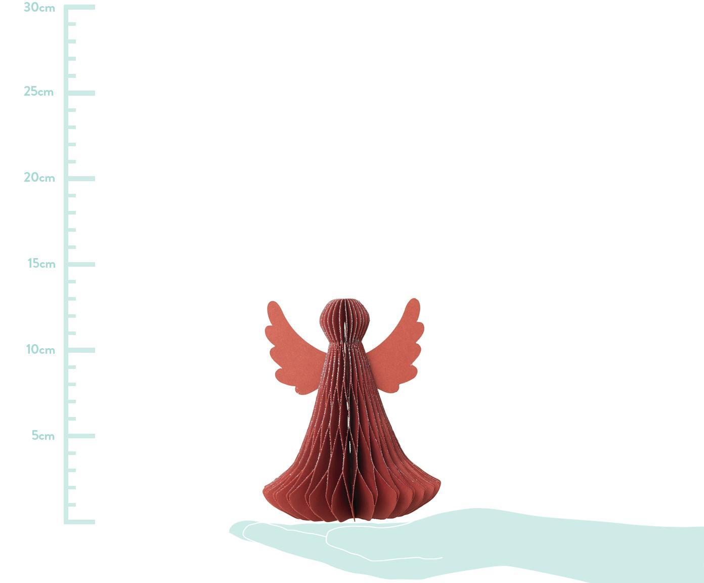 Deko-Objekte Angel, 2 Stück, Papier, Rot, Ø 10 x H 13 cm