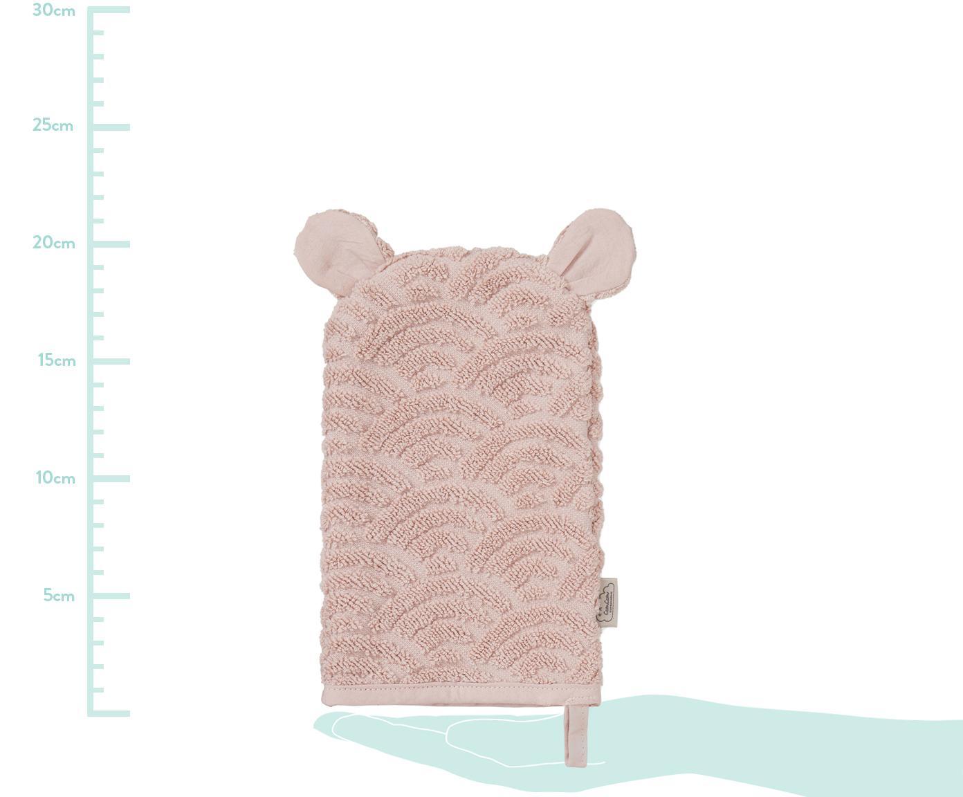 Waschlappen Wave aus Bio-Baumwolle, Bio-Baumwolle, GOTS-zertifiziert, Rosa, 15 x 22 cm