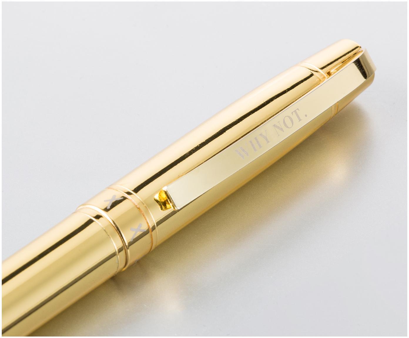 Kugelschreiber Why not, Metall, Goldfarben, L 15 cm