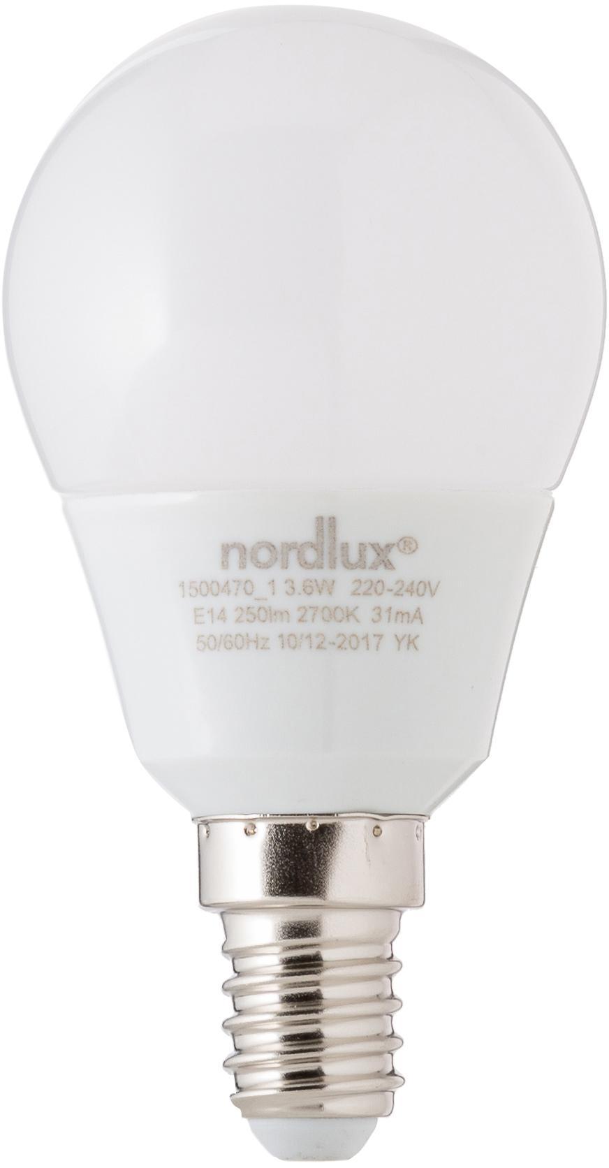 LED Leuchtmittel Azer (E14/3.5W), 5 Stück, Leuchtmittelschirm: Opalglas, Leuchtmittelfassung: Aluminium, Weiß, Ø 5 x H 9 cm