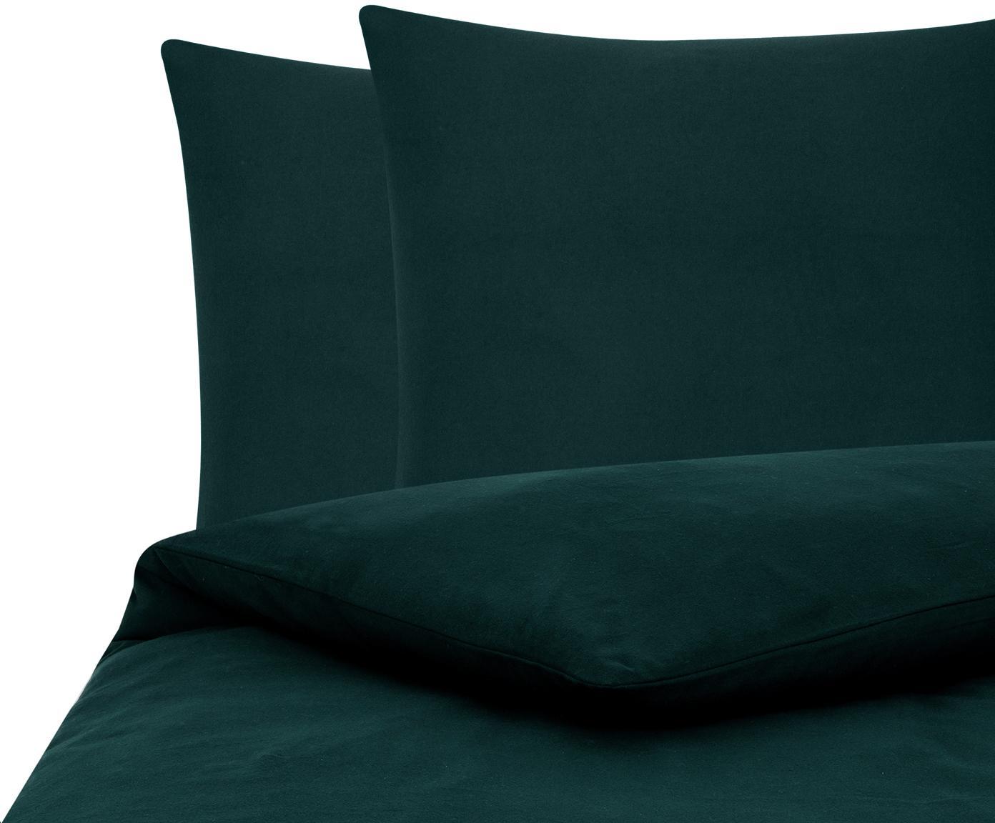 Flanell-Bettwäsche Biba in Waldgrün, Webart: Flanell Flanell ist ein s, Waldgrün, 200 x 200 cm + 2 Kissen 80 x 80 cm