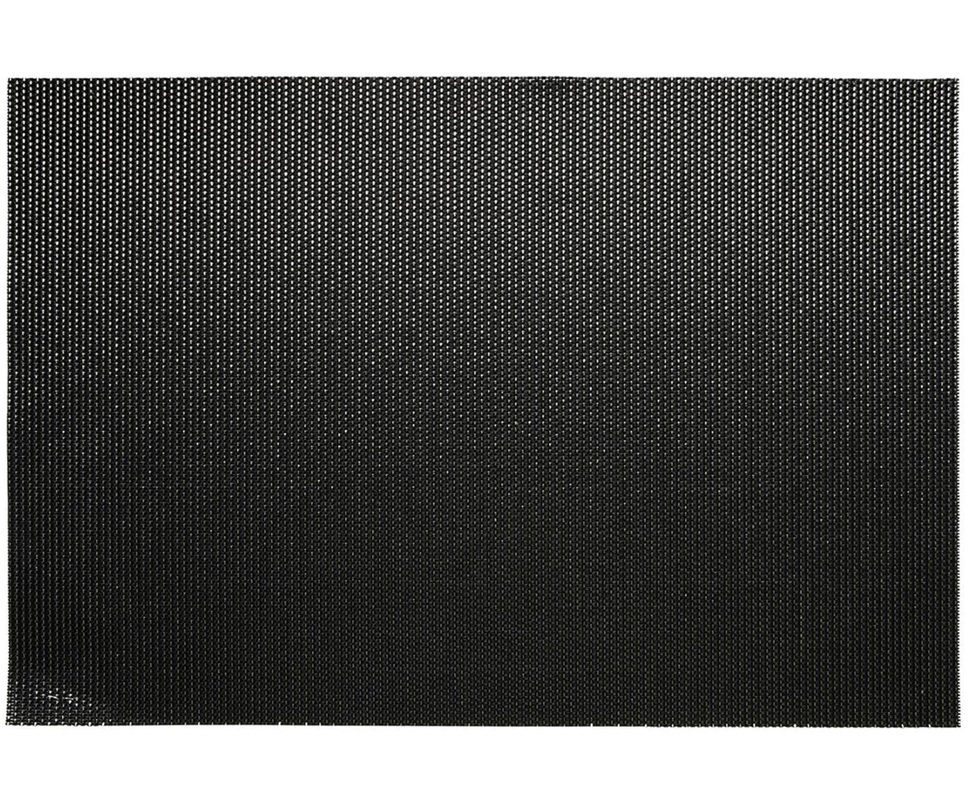 Kunststoffen placemats Brilliant, 2 stuks, Kunststof, Zwart, goudkleurig, 30 x 45 cm